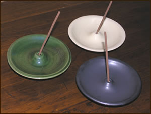 Round Flat Incense Burners